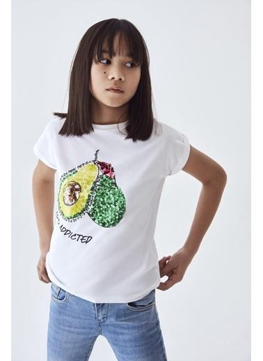 Patrizia Pepe Kız Çocuk Beyaz T-Shirt Beyaz